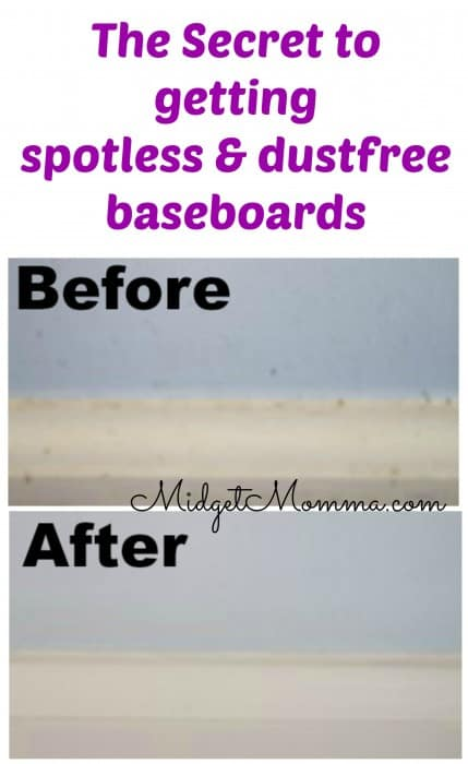 secret to spotless baseboards