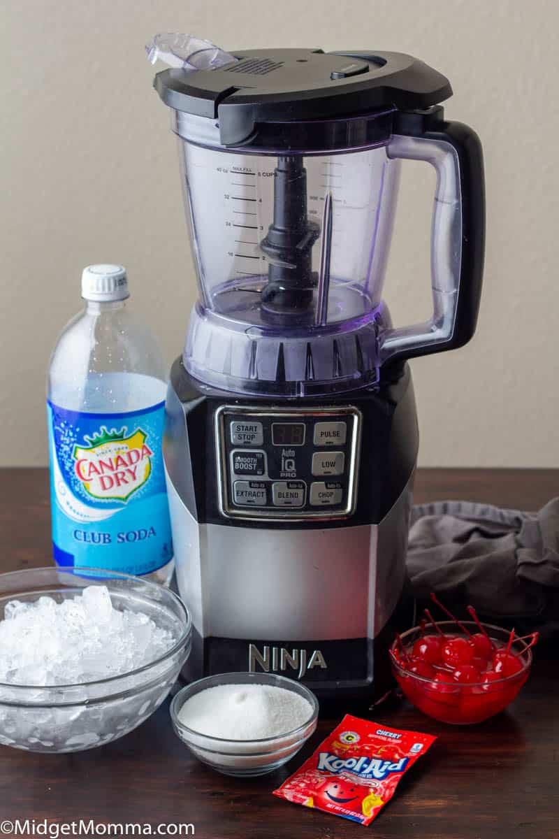 Homemade cherry slushie ingredients
