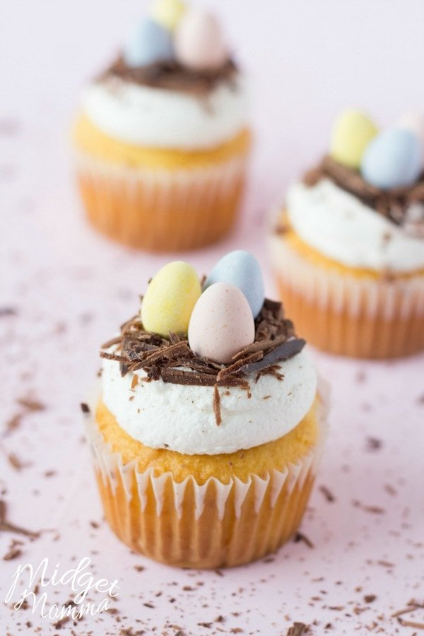 Chocolate Nest Cupcakes