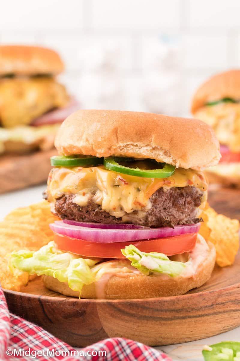 close up photo of Jalapeno Jack Cheeseburger Recipe