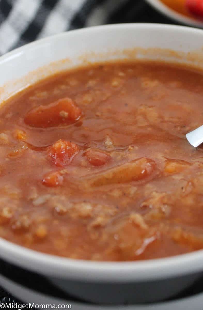 Slowcooker Stuffed Pepper Soup
