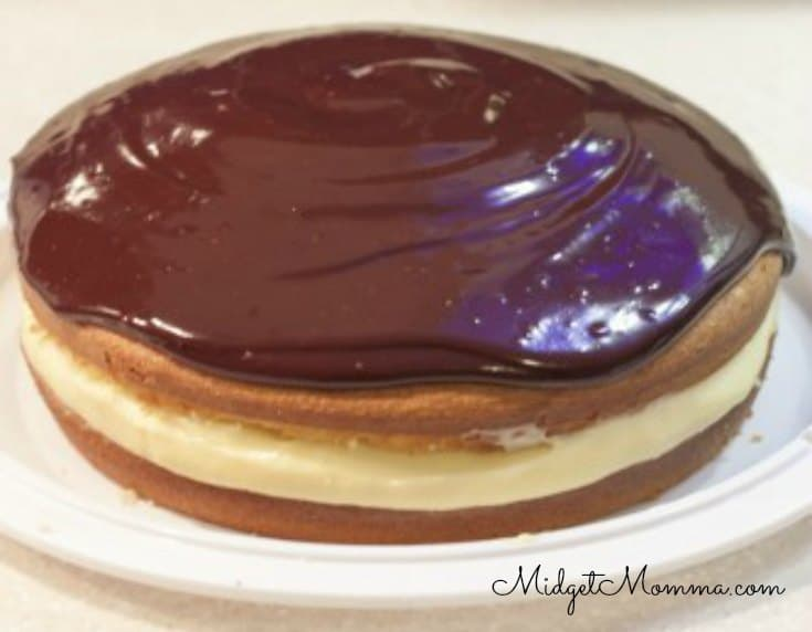 Homemade Boston Cream Cake