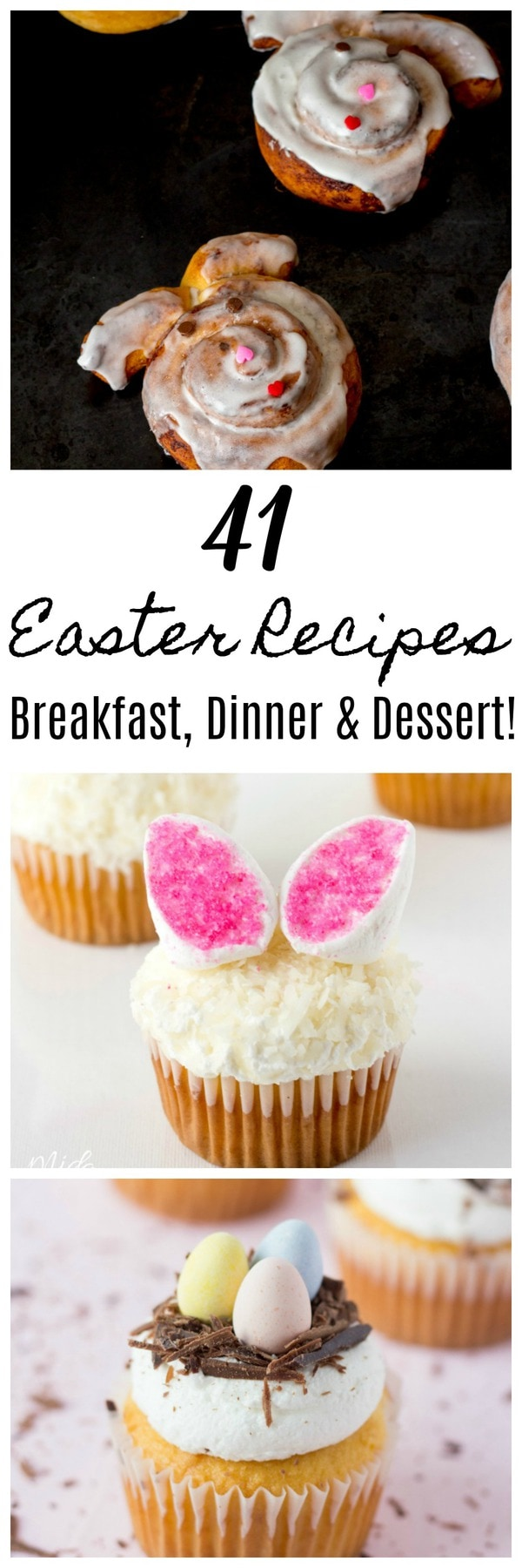 41 Awesome Easter Recipes! {Breakfast, Dinner & Desserts} #Eater #Dinner #Recipes #EasterRecipe #EasterEggs #Easterdinner #EasterBrunch #EasterBreakfast #EasterDesser #Desserts