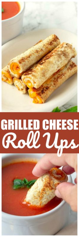 Easy grilled cheese roll ups are the perfect grilled cheese for kids. Easy grilled cheese to dip in tomato soup. This kid friendly recipe is one that my kids love! #GrilledCheese #KidFriendly #KidRecipes #GrilledCheeseSandwich