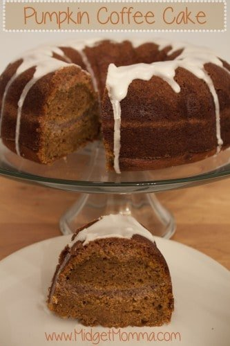 Pumpkin coffee cake is easy to make and the perfect fall recipe. Great for a fall breakfast or a fall dessert this cake will make any pumpkin lover smile.