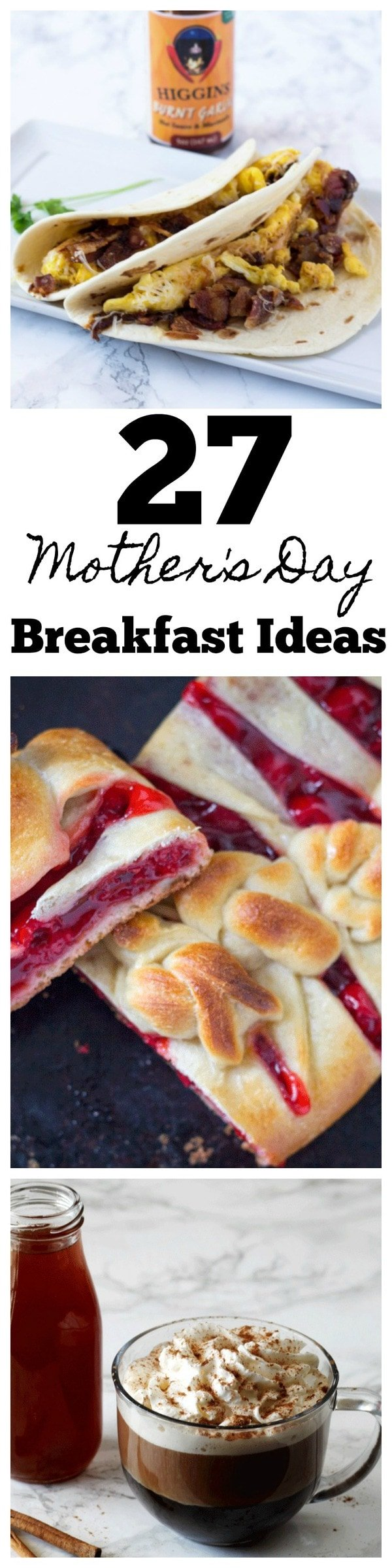 27 Mother's Day Breakfast Ideas. Don't be stuck on what to make mom for breakfast on Mother's Day with this list of Mother's Day Breakfast Recipes. You can easily give Mom breakfast in bed with some tasty treats! #Mothersday #breakfast #breaakfastinbed