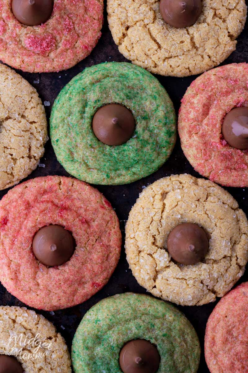 Christmas Peanut Butter Blossom Cookies