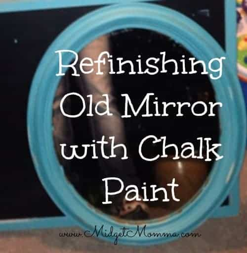 DIY: Refinishing Old Mirror with Chalk Paint