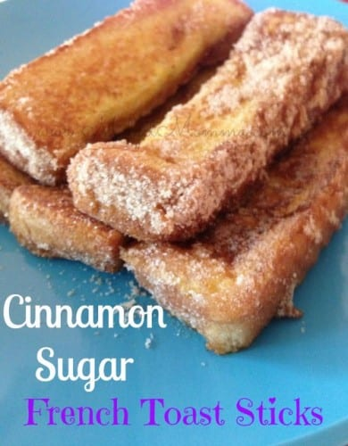 Cinnamon Sugar French Toast Sticks. Can make these Cinnamon Sugar French Toast Sticks in large batches and freeze them for easy breakfasts.
