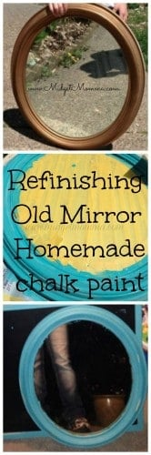 refinishing old mirror with homemade chalk paint.jpg