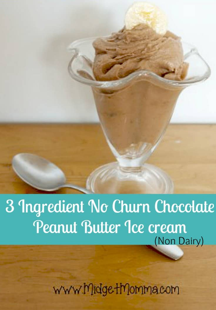 banana chocolate peanut butter ice cream ingredients 3 frozen bananas ...