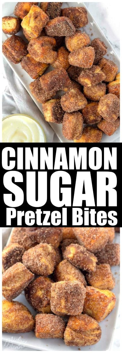 These Cinnamon Sugar Pretzels are soft homemade pretzels that taste just like the Cinnamon Sugar Pretzels that you get from Auntie Anne's! Make these homemade Cinnamon Sugar Pretzels for any party you are having and wow your guests. These Cinnamon Sugar Pretzels also make an amazing snack too! #Pretzel #Cinnamon #Sugar