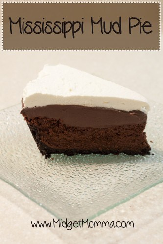 Mississippi Mud Pie made with homemade chocolate pudding, homemade chocolate cake and home made whipped cream! It is so rich and creamy.