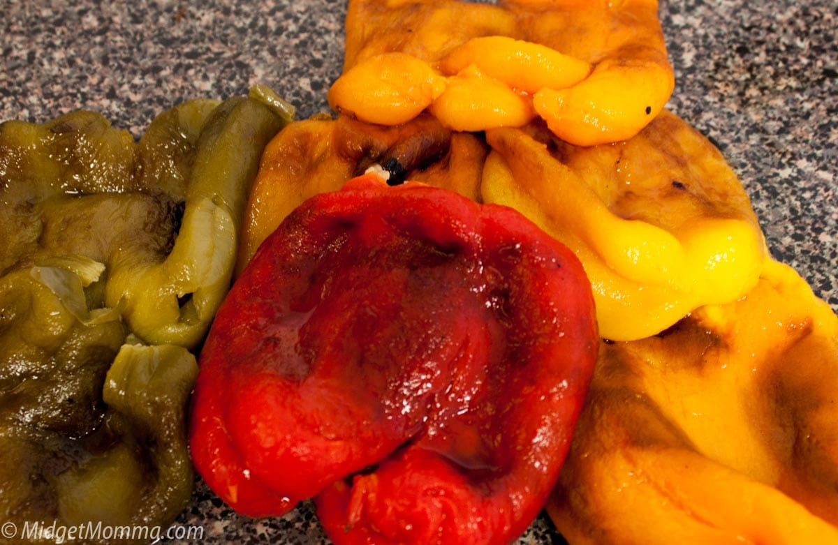 Roasting peppers in the oven