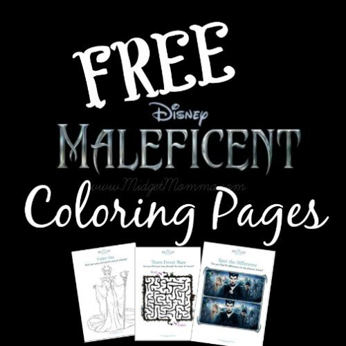 Maleficent Coloring and activity sheets