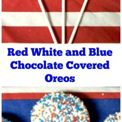 4th of July Chocolate Covered Oreos