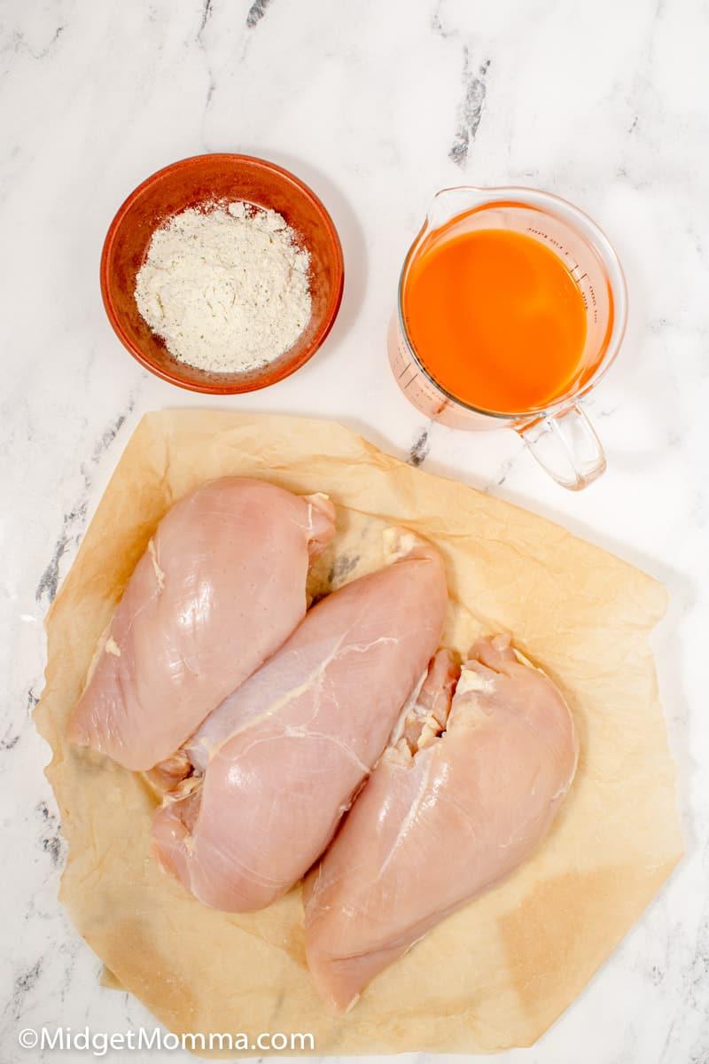 Slow Cooker Buffalo Chicken Sandwich ingredients