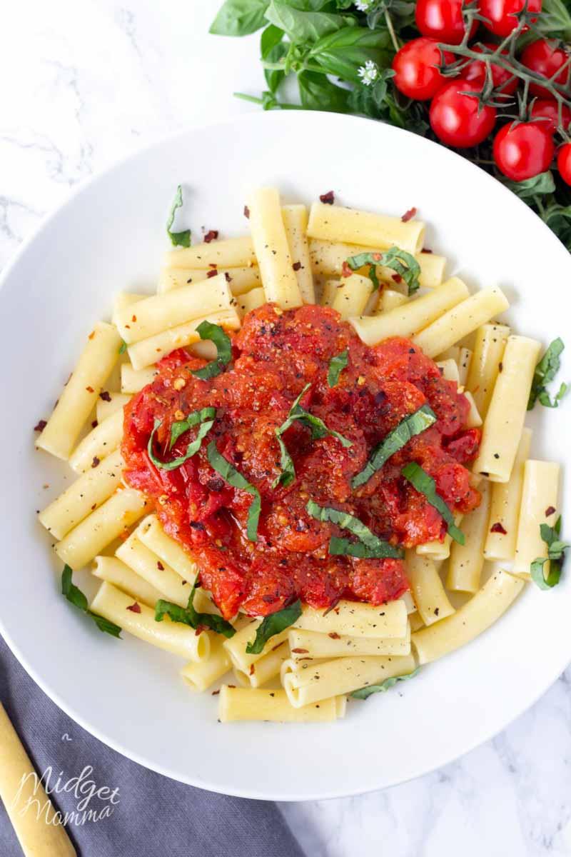 Spicy Cherry Tomato Pasta Sauce