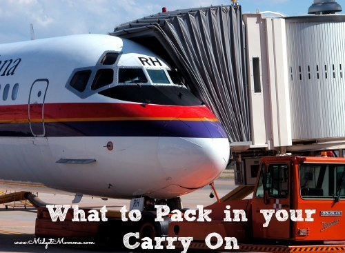 What to Pack in your Carry On