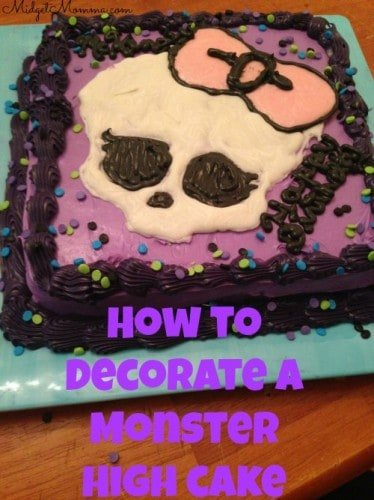 This Monster High Cake is a very simple cake to make with just some chocolate, wax paper and some directions from midgetmomma.