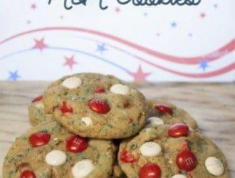 Homemade M&M Cookies, Patriotic M&M Cookies, 4th of July M&M cookies, Homemade cookies, 4th of July cookies, M&M cookies, cookies