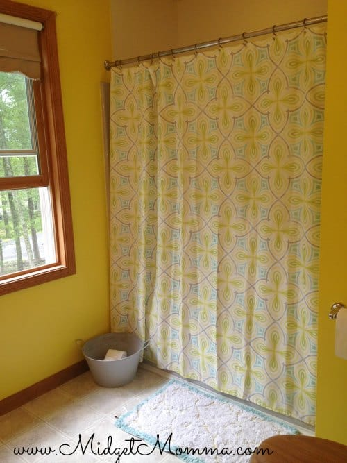 Yellow Bathroom Shower Curtain
