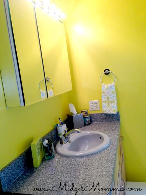 Our New Bathroom| Yellow And Gray Bathroom Decor