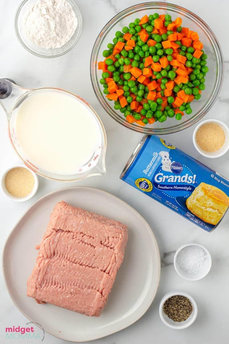 Chicken Biscuit Pot Pie ingredients