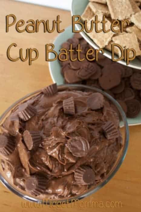 Peanut Butter Cup Batter Dip perfect for the peanut butter and chocolate lover. It is a great sweet dip for any of your parties.