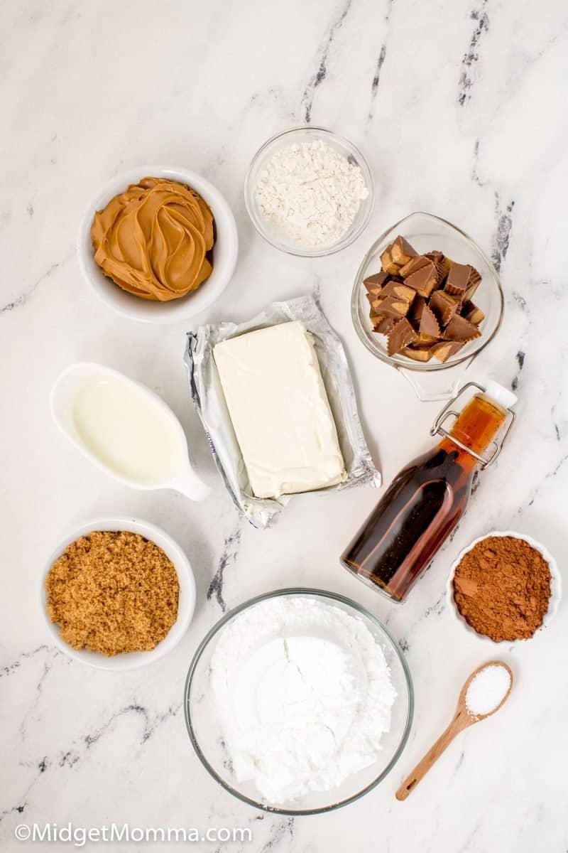Peanut butter cup dip ingredients