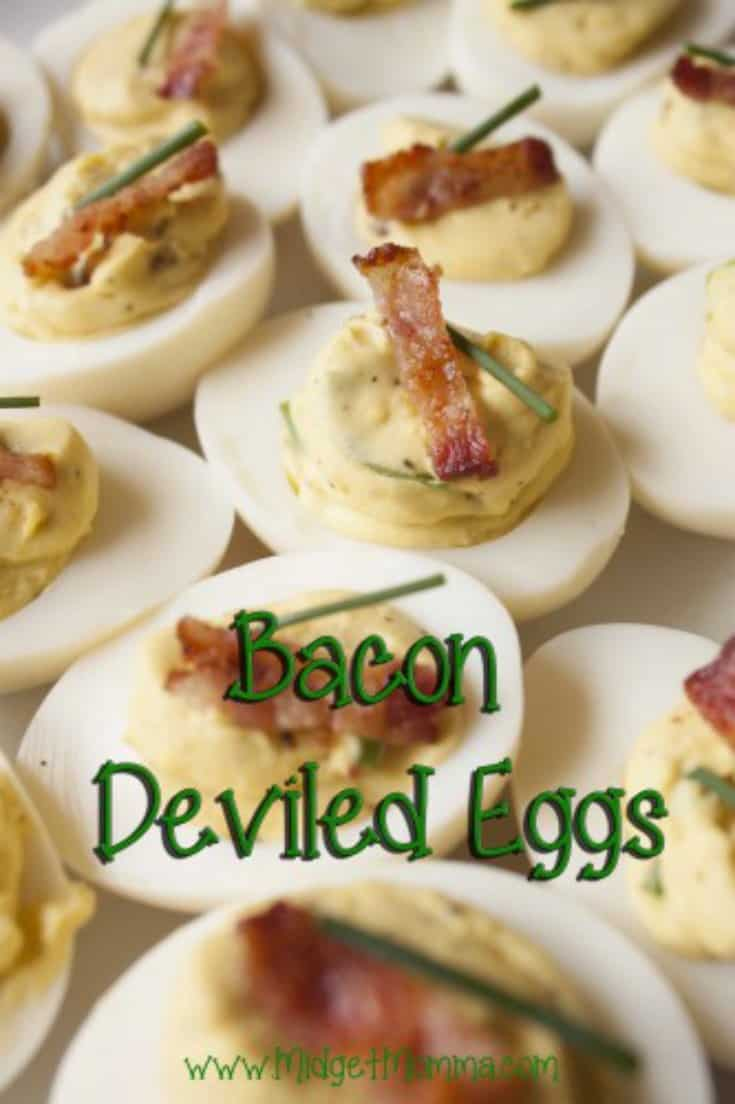 These bacon deviled eggs are amazing and of course we all know everything is better with bacon. Easy to make and they look amazing too!