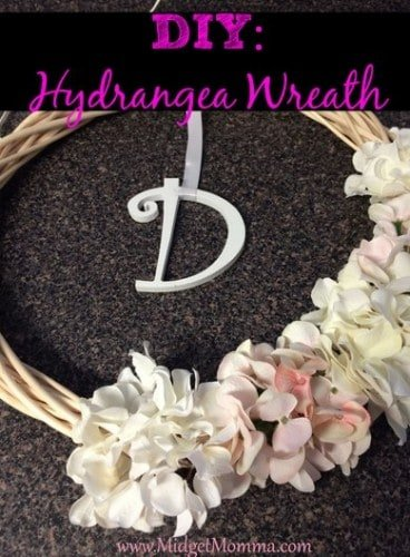 do it yourself Hydrangea Wreath