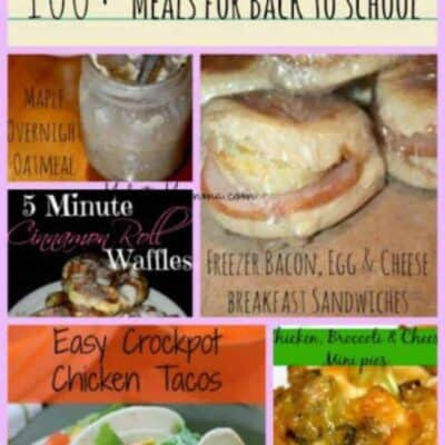 Back to school Meal Planning Meal ideas 100+ meal ideas, Breakfasts, snacks, lunch and dinner meals to help you meal plan for back to school, easy meal idea