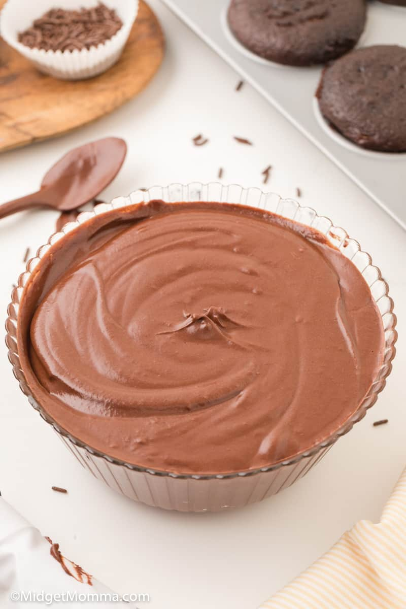 bowl of Grandma's Old Fashion Chocolate Frosting