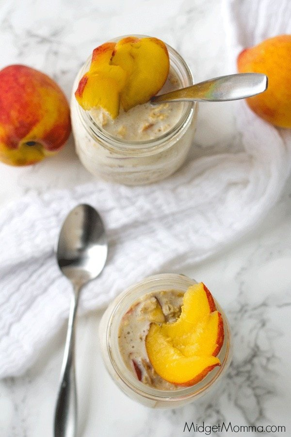 Peach Overnight Oatmeal