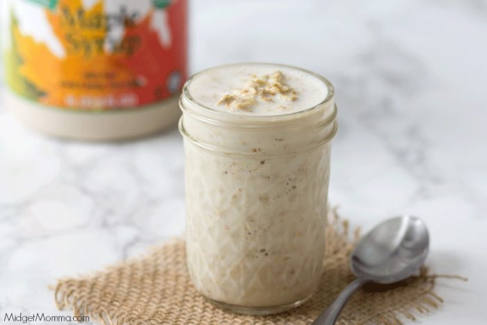 no cooking needed Overnight Maple Oatmeal