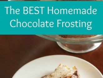 This is the BEST Chocolate Frosting EVER! ONLY 4 ingredients and SUPER Easy to make! This Chocolate Frosting will be your new go to recipe!