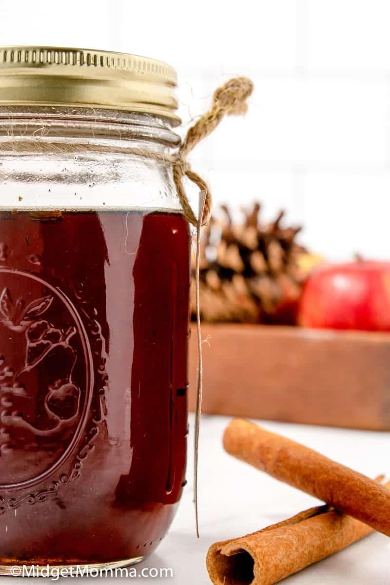 Jar of Cinnamon Dolce Syrup Recipe