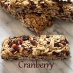 I made these AMAZING Cranberry Granola Bars that are made with REAL FOOD Ingredients!!! They have a crunch from the nuts and a chew from the cranberries.