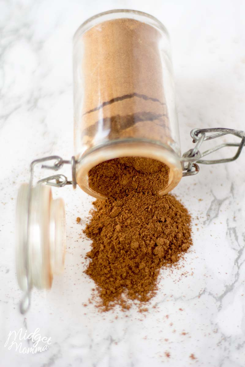 Pumpkin Pie Spice in a glass jar