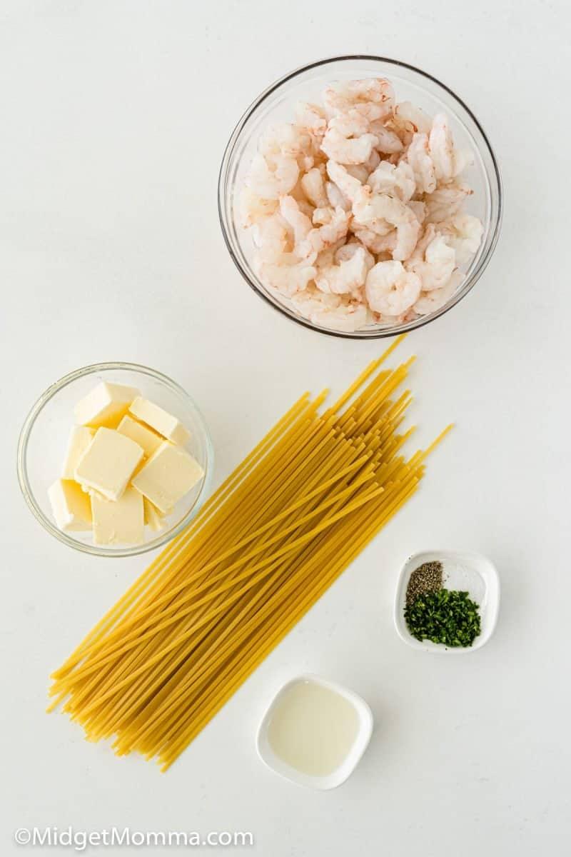 Shrimp Pasta Recipe ingredients