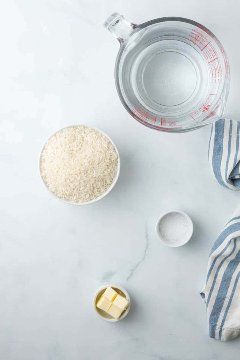 How to Make Oven Baked Rice ingredients