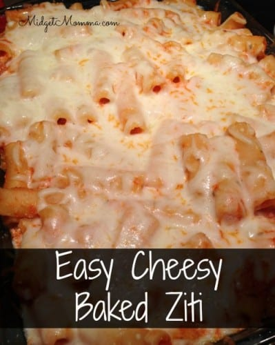 easy cheesy baked ziti