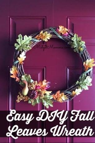 Easy DIY Fall Leaves Wreath