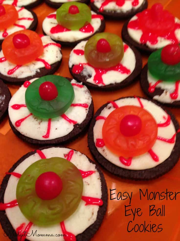 Easy Monster Eye Ball Oreo Halloween Cookies