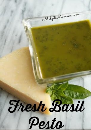 This Fresh Basil Pesto recipe is your standard pesto that goes great on anything from pasta salads to sandwiches to chicken.
