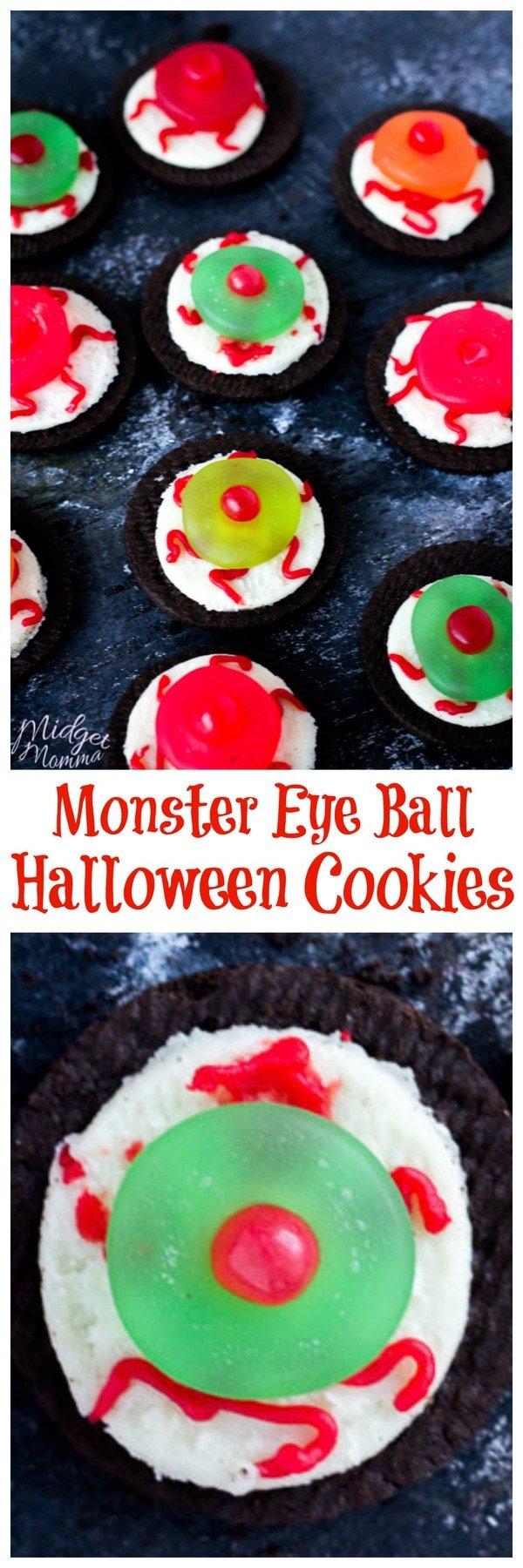 Monster Eye Ball Halloween Cookies
