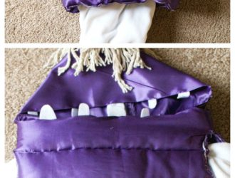 Step by step directions to make this super cute DIY Monsters Inc Boo Costume. Easy to follow directions for this DIY Disney costume that the kiddos will love and look super cute wearing. Everyone loves this Monster's inc DIY costume.