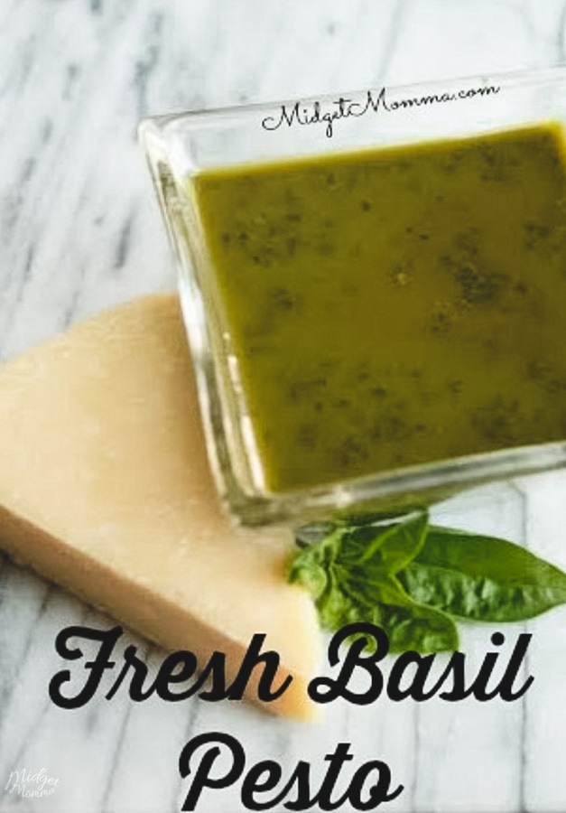 Pesto made with Fresh Basil! It is so easy to make pesto with fresh basil and the flavor is amazing!