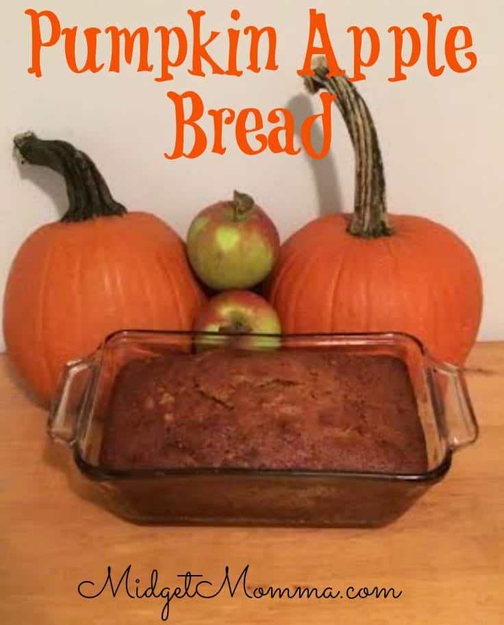 This pumpkin apple bread recipe is perfect for holiday dinners and breakfast or even just a tasty snack! The mix of apples and pumpkin is the perfect mix